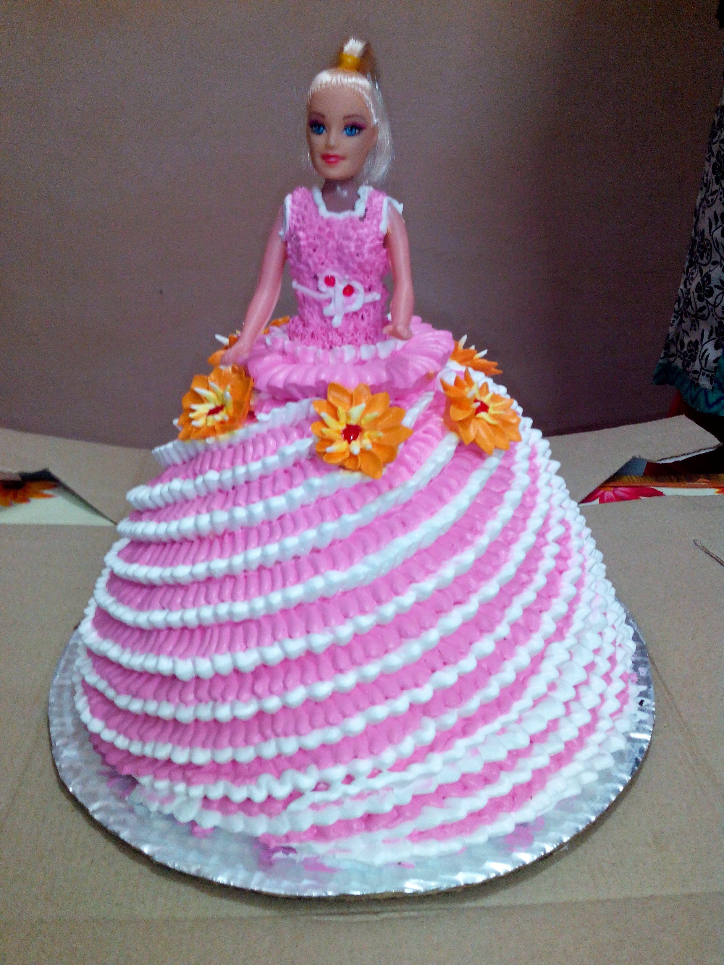 Awesome Doll Birthday Cake Birthday Cake In Nit Noida Birthday Cards Printable Riciscafe Filternl