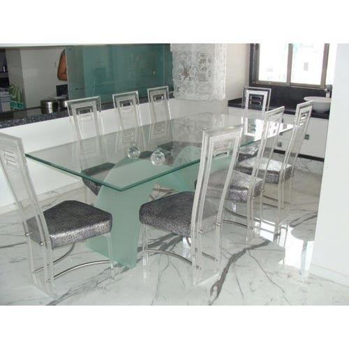 8 Seater Acrylic Dining Table Set 1 Table And 8 Chair Rs 60000 Set Id 6842783433