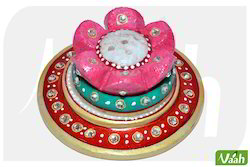 Vaah Marble Incense Stick Stand with Meenakari