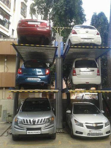 Single Pole Car Parking System Manasvi Enterprises