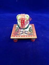Gifted Marble Chowki Ganesha