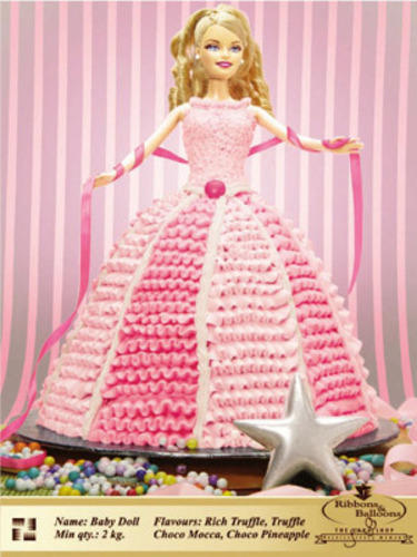 Fancy Cakes Barbie Doll Photo Cakes Retailer From Mumbai