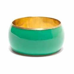 Green Color Brass Bangle