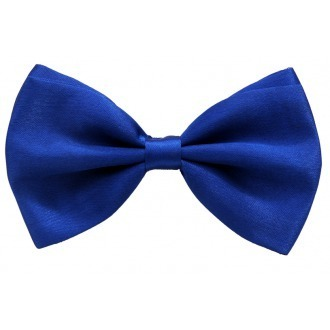 b4b92e64f46 Royal Blue Silk Satin Bow Tie For Men - Skinny Ties Online