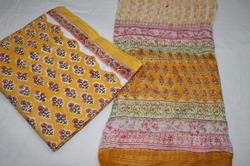 Churidar Suit with Ciffon Dupatta