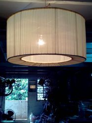 Pleated Drum Lamp