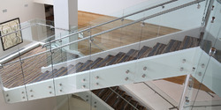 SS304 Handrail With Glass Railing