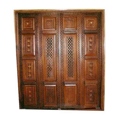 Wooden Pooja Room Door