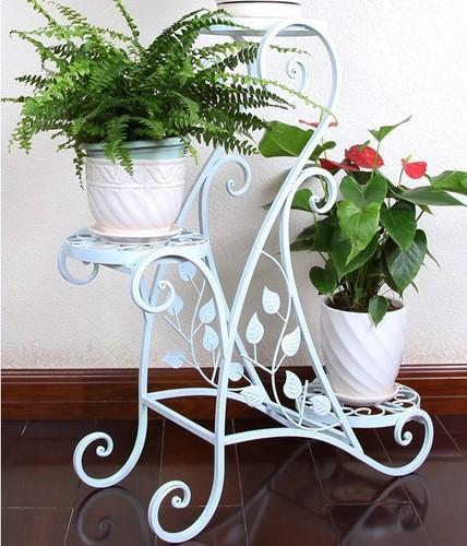 Wrought Iron Plant Stands Flower Pots Wall Garden Planters Leo