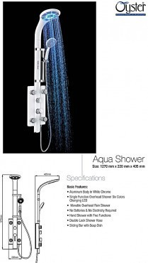 Aqua Shower 1270x220x405MM