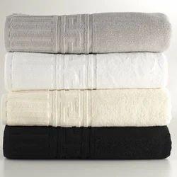 Cotton Plain Greek Border Towels