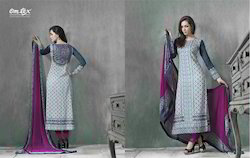 Net Grey Long Cotton Suits