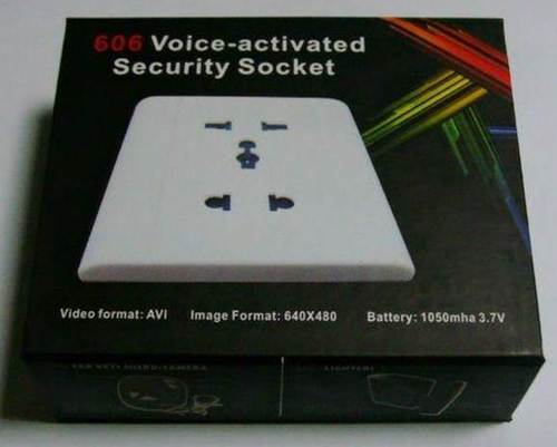 Plastic Day & Night DVR Voice Activated Plug Point Spy Camera, Packaging Type: Box
