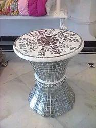 Glass Inlay Stool