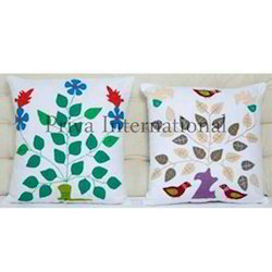 Applique Patch Work Pillow Cover