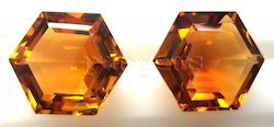 Citrine Fancy Cut Hexagonal Gemstone