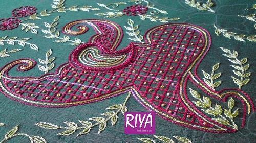Aari Embroidery Work Aari Embroidery Work Riya Designers Chennai