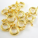 Gold Plated Sterling Silver Spring Ring Clasps