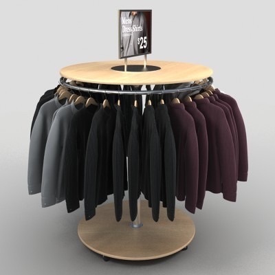 Wood L400*w260*h1490 Mm Round Hanging Garment Rack | ID: 8796918112