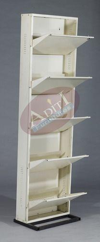 Ivory 5 Shelf Metal Shoe Rack