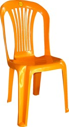 Armless Stripes Back Plastic Chairs