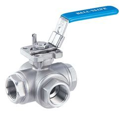 SS 3 Way T Type Ball Valve