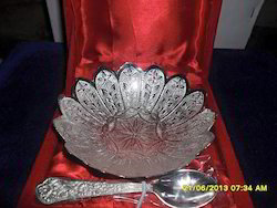 Corporate Silver Plated Handcrafted Serving Platter
