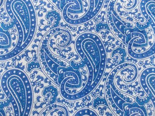 Printed Textile Fabrics Indian Sanganeri Paisley Print