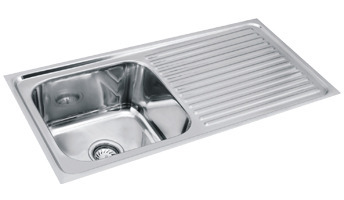 Stainless Steel Single Bowl Drain Kitchen Sink 37 1 2 Inch