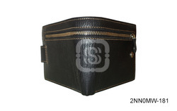 Male Fancy Black Leather Wallet