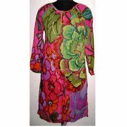 Designer Flower Print  Dress