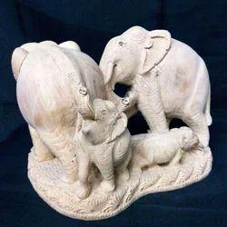 Marble Elephant Sculptures