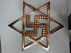 Brass Made Copper Polish Brass Star Swastik