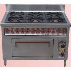 Six Burner Range With Oven
