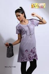 Beautiful Party Wear Printed Tunic Top Kurti