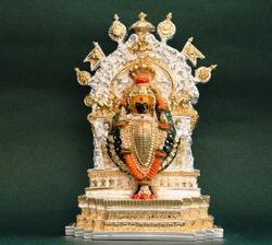 Two Tone Plated Kolhapur Mahalaxmi Idols