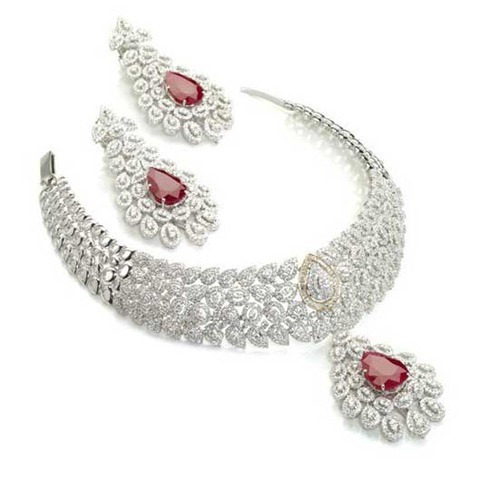 set sets necklace designs diamond jewellery wedding watch