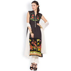 Pretty Wear Stylish Printed Long Dress Tunic for Ladies