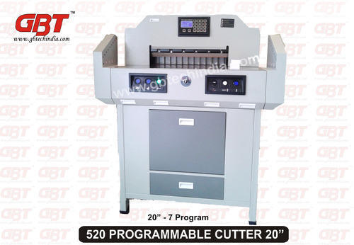 Electric Paper Cutter 20 Inch Gbt 520 G B Tech India