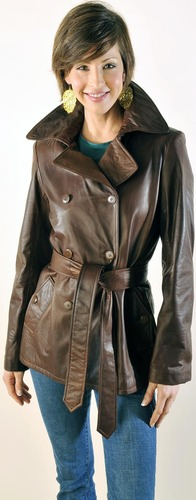 Manufacturer of Real Leather Coats with SGS Lab Tests
