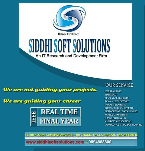 Embedded Systems Projects Free Titles Trichy in Lakshmi