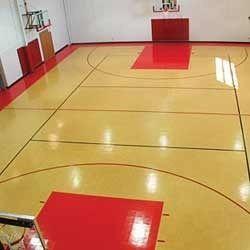 Indoor basketball court flooring material gurus floor for Indoor basketball court flooring cost