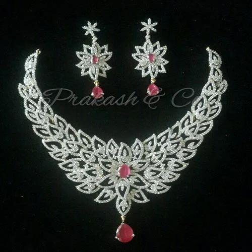 89ab31a2c Prakash American Diamond Necklace Set