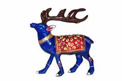 Metallic Deer Statue