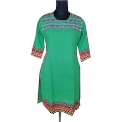 Cotton Casual Wear Straight Printed Kurti
