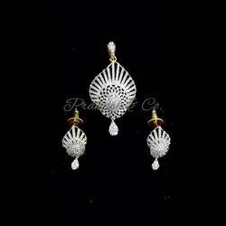 American Diamond Fancy Pendants Sets