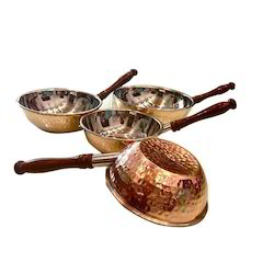 Copper Steel Wok Style Portion Dishes