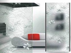 Printed Multicolor Decorative Glass, For Home
