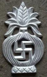 Cast Metal Swastik Kalash Flower