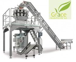 Collar Type Packing Machine with Multihead Weigher